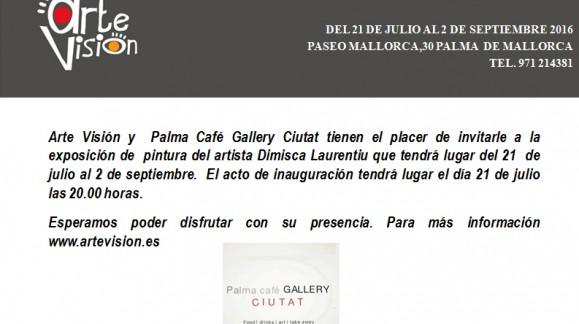 EXPOSICIÓN DEL ARTISTA DIMISCA LAURENTIU EN PALMA CAFÉ GALLERY CIUTAT